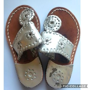 Jack rogers champagne thong sandals